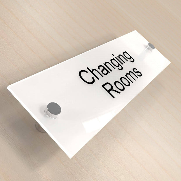 Office Door Plaques - Frosted White - Displaypro