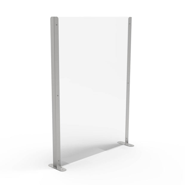 Pro Sneeze Guard with Acrylic Screen & Stainless Steel Legs - Displaypro