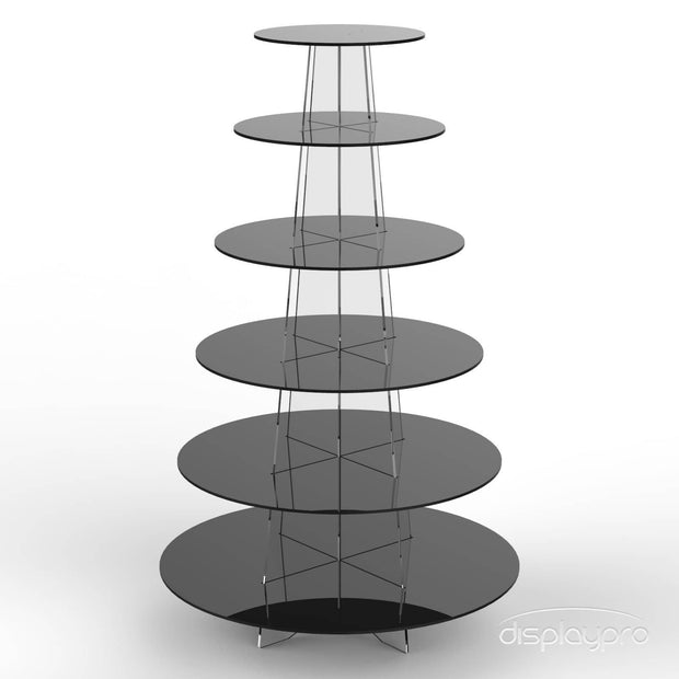 Round Acrylic Cup Cake Stands - Displaypro