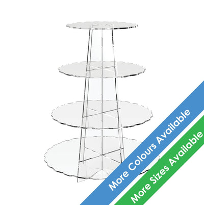 Scalloped Acrylic Cup Cake Stands - Displaypro