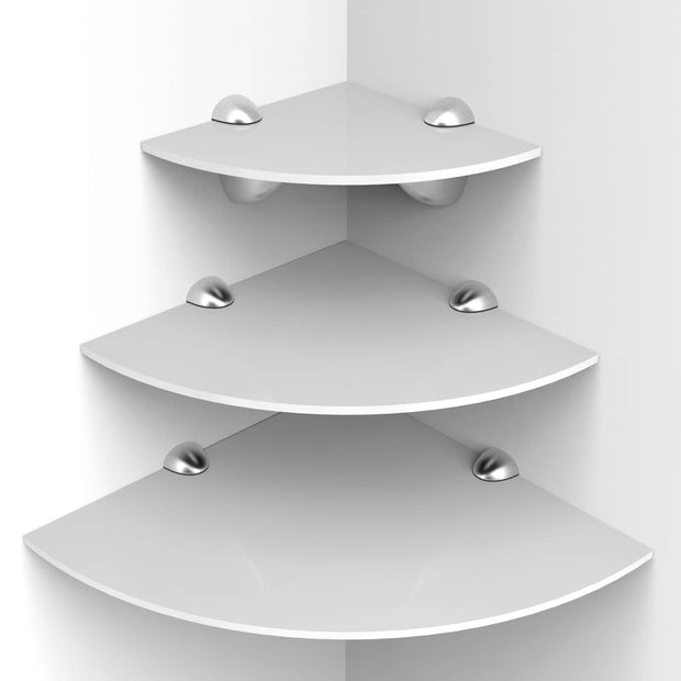 Set of 3 Acrylic Corner Shelves - Displaypro