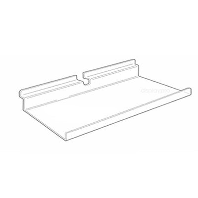 Slatwall shelf with Upturn 600mm x 200mm - Displaypro