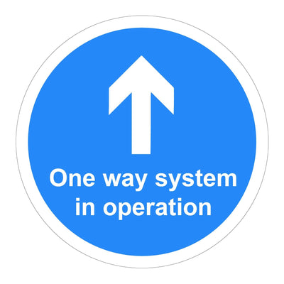 Social Distancing Floor Vinyl Stickers 1 Way System in Operation - Displaypro