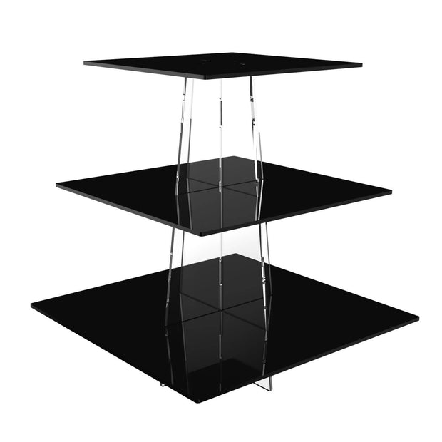 Square Acrylic Cup Cake Stands - Displaypro