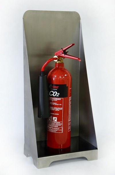 Stainless-Steel Fire Extinguisher Stand - Displaypro