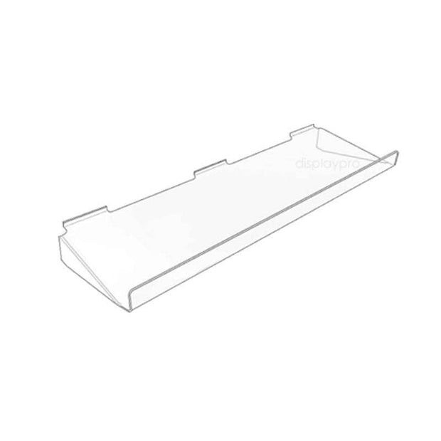 Supported Slatwall Shelf with Upturn 600mm x 100mm - Displaypro