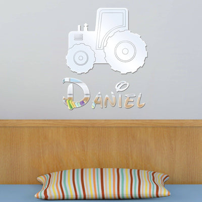Tractor Acrylic Mirror & Childrens Name - Displaypro