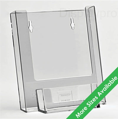 Wall Mount Leaflet Holders with Business Card Dispensers - Displaypro