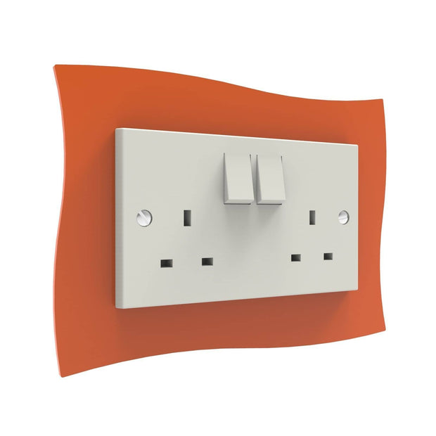 Wave Double Light Switch Surrounds - Displaypro