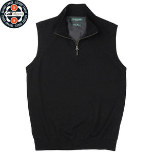 Baruffa Merino Quarter Zip Windvest - Fairway & Greene