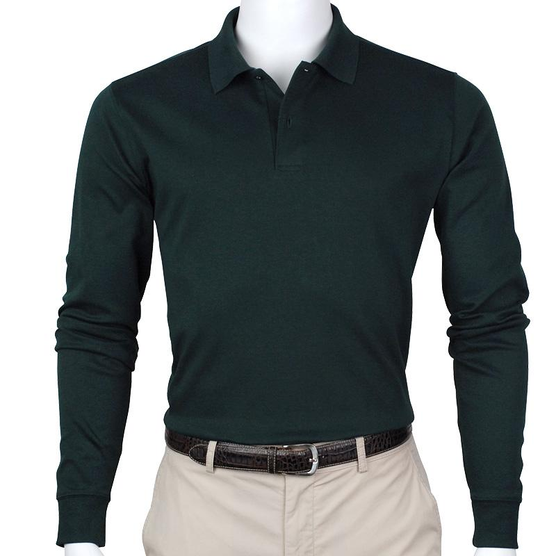Interlock Longsleeve Two Button Polo