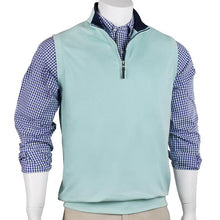 LUXURY INTERLOCK QUARTER ZIP VEST