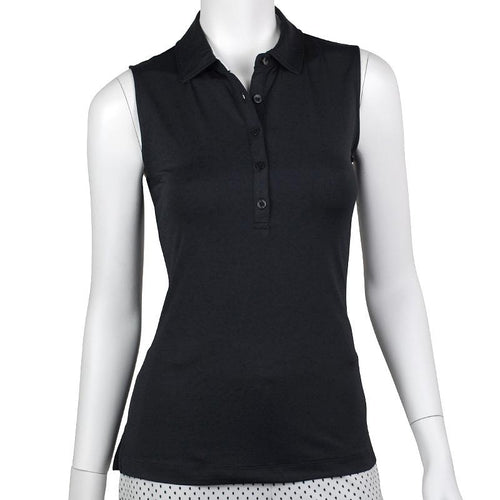Natalie Sleeveless Tech Jersey Polo