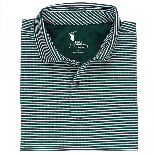 Kennedy Stripe Tech Pique Polo