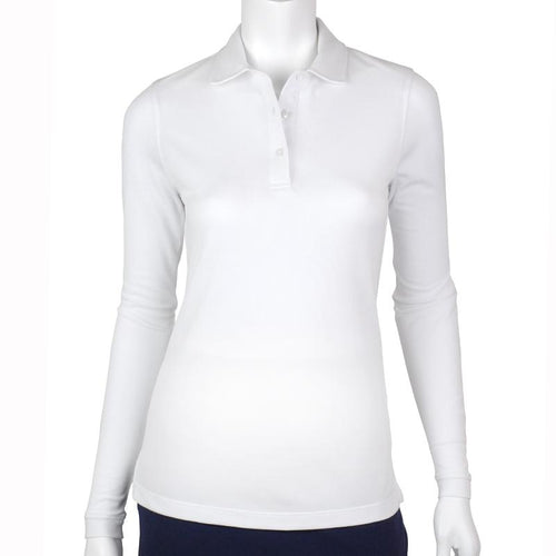JENI LONG SLEEVE PIQUE POLO