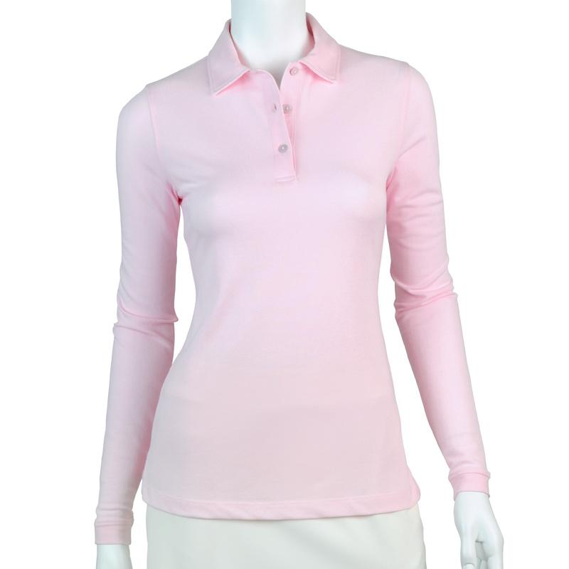 Jeni Long Sleeve Pique Polo - Fairway & Greene