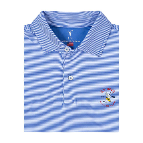 2020 U.S. Open Men's Mini Stripe Polo - Fairway & Greene
