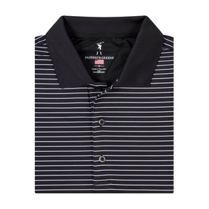 USA STRAHAN STRIPE POLO