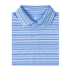 USA Silk Stripe Jersey Polo - Fairway & Greene