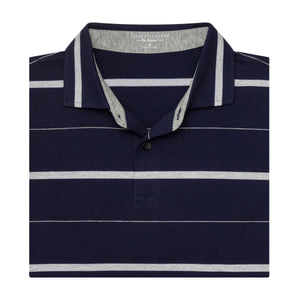 The Lt Stripe Natural Jersey Polo - Fairway & Greene