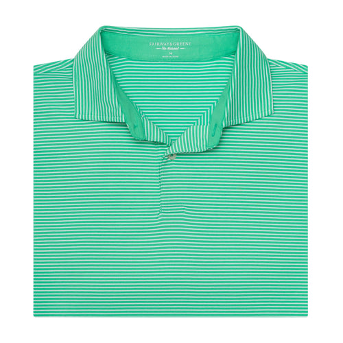 The Lombardi Stripe Natural Jersey Polo - Fairway & Greene