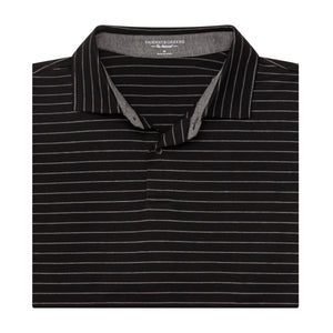 The Madden Stripe Natural Jersey Polo - Fairway & Greene