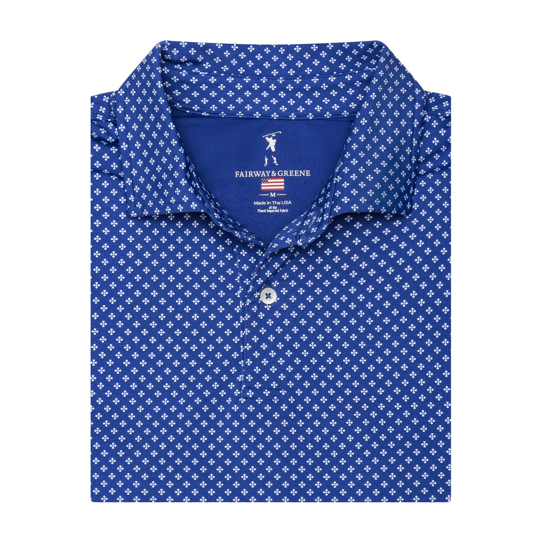 USA The Evert Print Polo - Fairway & Greene
