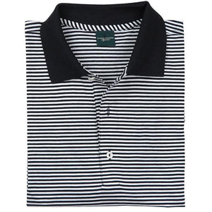 Signature Bar Stripe Lisle Polo