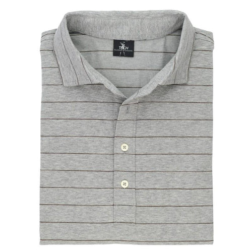 Berra Stripe Natural Tech Jersey Polo