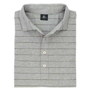 Berra Stripe Natural Tech Jersey Polo - Fairway & Greene