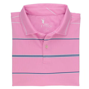 Carter Stripe Tech Pique Polo