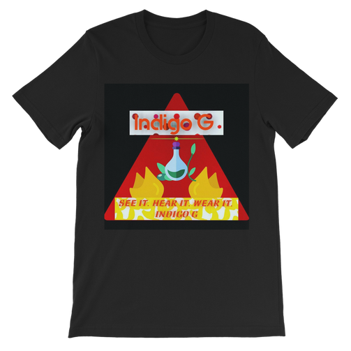 Red Triangle Premium Kids T-Shirt - Indigo G