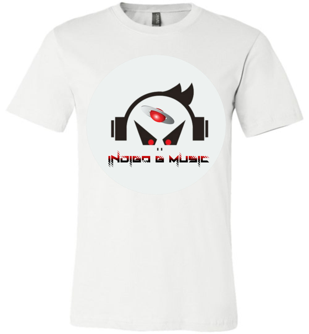 Music Face - Canvas T-Shirt - Indigo G
