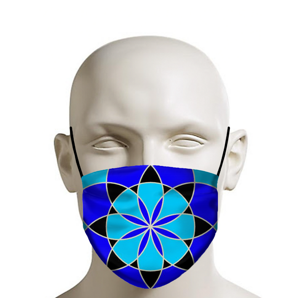 Life Flower Blue 2 - Face Mask - Indigo G