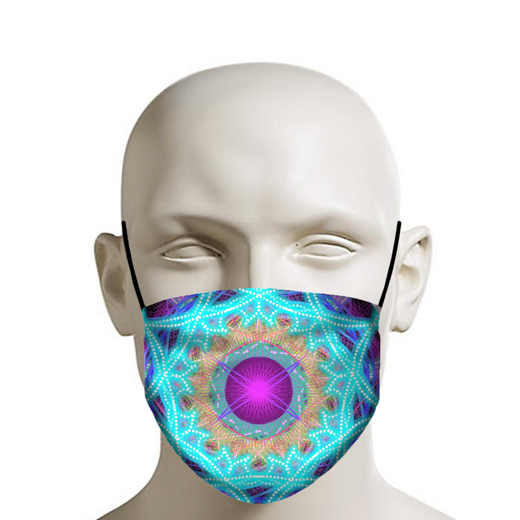 Pink Center - Face Mask - Indigo G