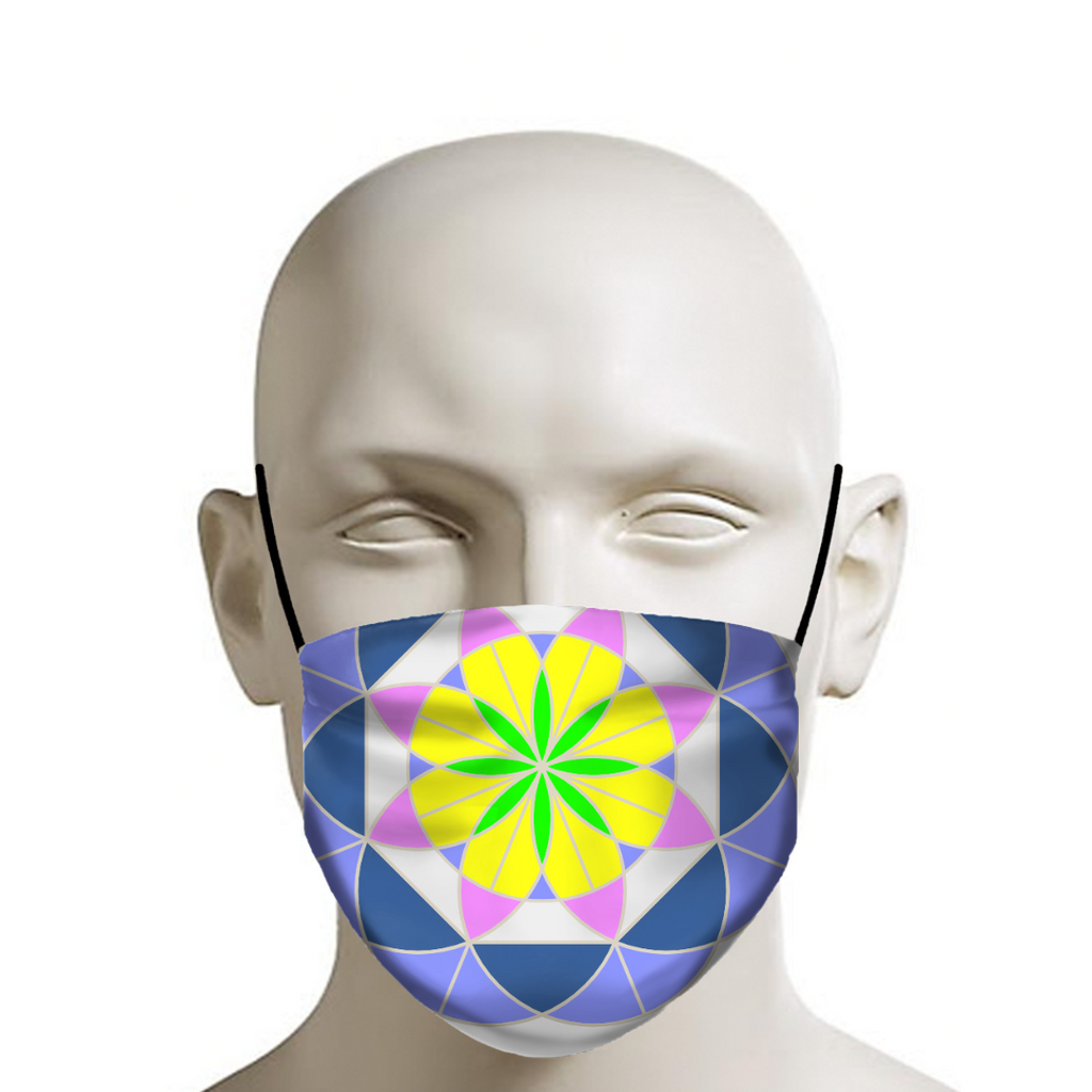 Life Flower 2 - Safety Mask - Indigo G