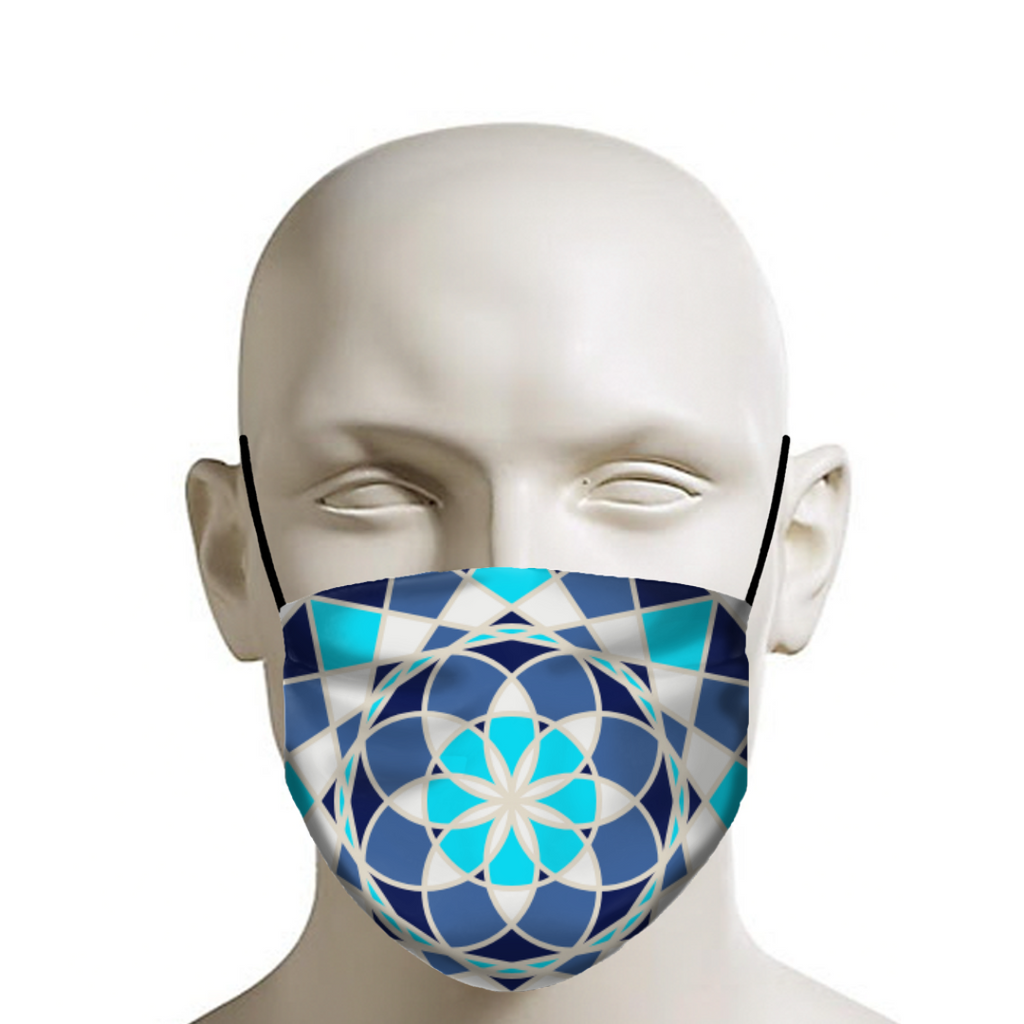 Life Flower 1 - Safety Face Masks - Indigo G