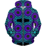 Load image into Gallery viewer, Aqua Dots - Zip Up Hoodie