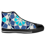 Load image into Gallery viewer, Mandala Blue - Men's High Top Sneaks