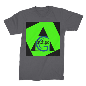 Indigo G Lime Green COLLECTION Premium Jersey Men's T-Shirt - Indigo G