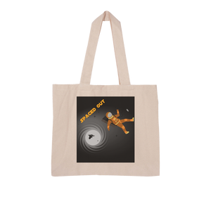Spaced Out Orange Space Collection Large Organic Tote Bag - Indigo G