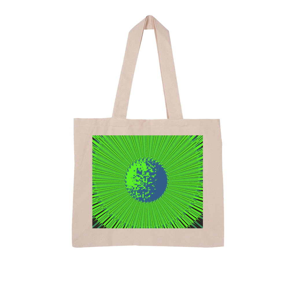 Indigo G Lime Green COLLECTION Large Organic Tote Bag - Indigo G