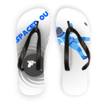 Load image into Gallery viewer, IMG_Blue Spaced Out_30062019_042919_(4200_x_4800_pixel) Kids Flip Flops - Indigo G