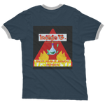 Load image into Gallery viewer, Red Triangle Adult Ringer T-Shirt - Indigo G - Indigo G