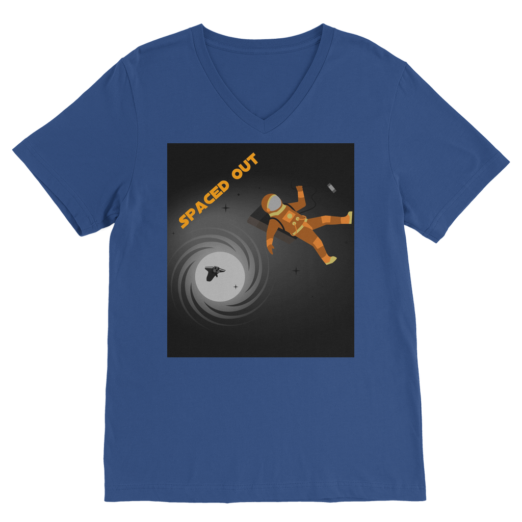 Spaced Out Orange Space Collection Classic V-Neck T-Shirt - Indigo G