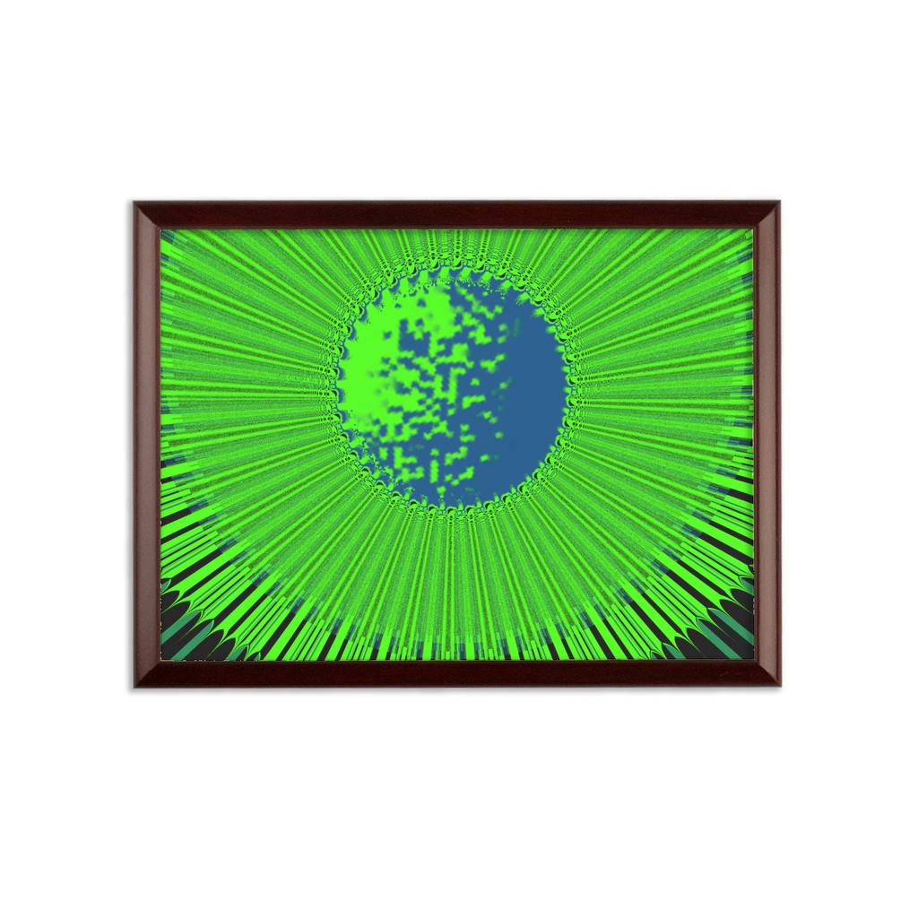 Indigo G Lime Green COLLECTION Sublimation Wall Plaque - Indigo G