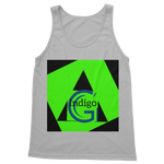 Load image into Gallery viewer, Indigo G Lime Green COLLECTION Classic Adult Vest Top - Indigo G