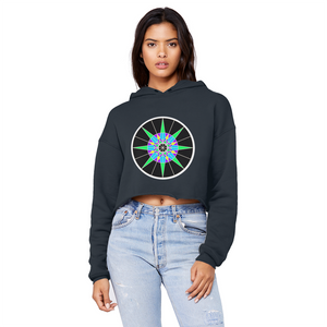 Lucky 7 Unisex Cropped Raw Edge Boyfriend Hoodie