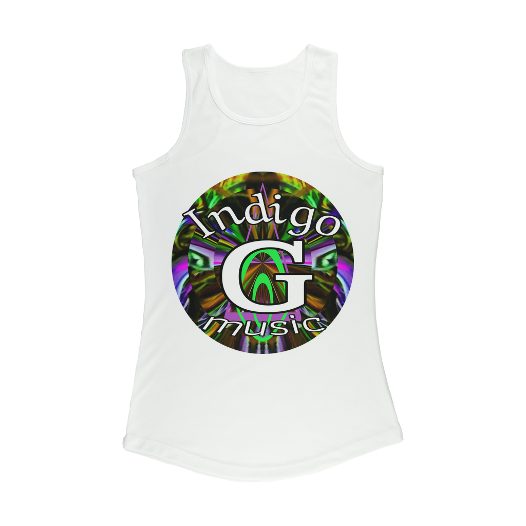 Indigo G Music Indigo G Music - Women Performance Tank Top - Indigo G