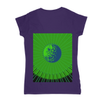 Load image into Gallery viewer, Indigo G Lime Green COLLECTION Classic Women's V-Neck T-Shirt - Indigo G